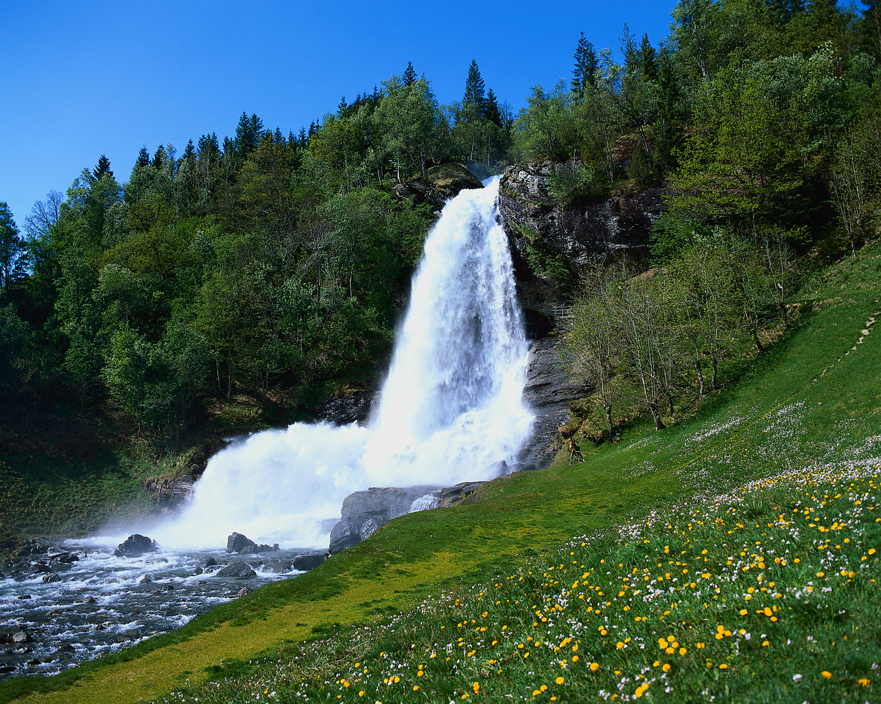 Waterfall on the Hardanger Fjord